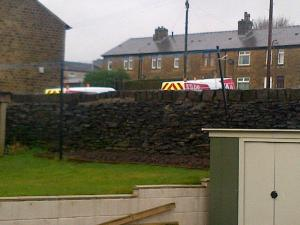 3 vans up the road 27/12/12